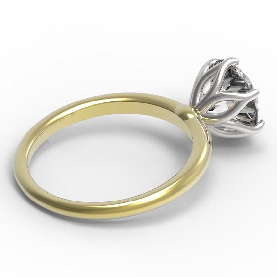 The Tulip Solitaire Engagement Ring...